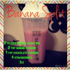 Banana split Herbalife shake