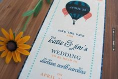 Neato - Hot air balloon themed wedding save the date | CHECK OUT MORE IDEAS AT WEDDINGPINS.NET | #weddings #weddingplanning #coolideas #events #forweddings #weddingplaces #romance #beauty #planners #weddingdestinations #travel #romanticplaces #eventplanners #weddingdress #weddingcake #brides #grooms #weddinginvitations