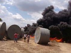 Blog Paulo Benjeri Notícias: Incêndio destrói mais de 40 cisternas de plástico ...