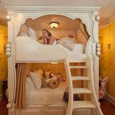 Bunk bed for two teen girls.