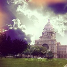 what happens when I go to yoga then eat too many dark chocolate no-bake cookies at midnight / I make pictures // #architecture #austin #blender #clouds #capitol - @inkedfingers- #webstagram