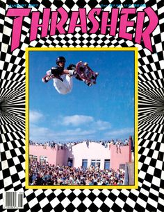 Tony hawk - Thrasher Magazine cover - August 1987