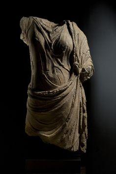 Draped female figure  Basalt Roman, 2nd century A.D.