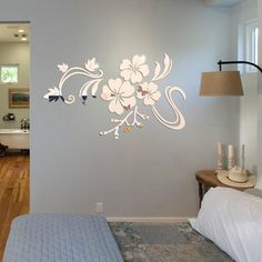 Fashion 3D Mirror Vinyl Removable Wall Sticker Decal Home Decor Art DIY Sliver $6.39