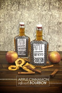 Everyone gets super excited for boozy gifts! ) Check out this Apple Cinnamon Infused Bourbon recipe from the archives! Cocktails, Non Alcoholic Drinks, Cocktail Drinks, Fun Drinks, Yummy Drinks, Cocktail Recipes, Whiskey Drinks, Homemade Liquor, Homemade Gifts