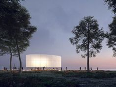 Image 21 of 27 from gallery of Chicago Architecture Biennial Announces Lakefront Kiosk Winners. Courtesy of The Chicago Architecture Biennial Orlando, Timber Roof, Garden Pavilion, Timber Structure, 3d Visualization, Garden Fencing, School Architecture, Architecture Design, Art Institute Of Chicago