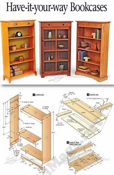 Bookcases Plans - Furniture Plans and Projects | WoodArchivist.com