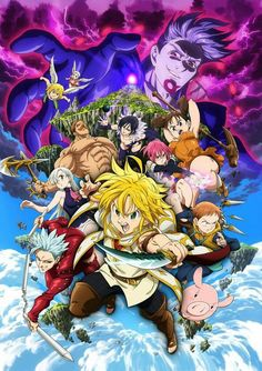 - The Seven Deadly Sins: Prisoners of the Sky「七つの大罪天空の囚われ人 Tenkū no Torawarebito」 is the first movie based on the manga and anime series Nanatsu no Taizai, by Nakaba Suzuki. The movie premiered in Japan on August \ Seven Deadly Sins Anime, 7 Deadly Sins, Jericho Seven Deadly Sins, New Movies, Movies Online, Hindi Movies, Watch Movies, Tatsuhisa Suzuki, Seven Deady Sins