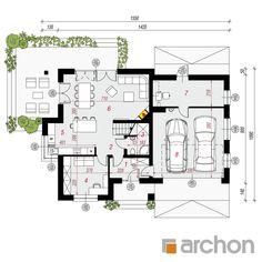 gotowy projekt Dom w miłowonkach rzut parteru Floor Plans, Flooring, How To Plan, Architecture, House Styles, Ideas, House 2, Tiny Houses, Home