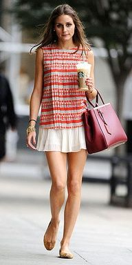 Olivia Palermo, 100% girly! #op #style #spring #outfit #street #girly #skirt