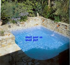 Pool, Sprucing Up The Exterior Schemes With Modern Pool Designs: Exotic Pool Surrounded By Brick Wall Accent Near The Staircase And Forest V...