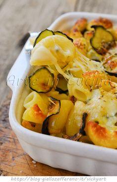 Pasticcio di pasta con zucchine e pecorino veloce  vickyart arte in cucina