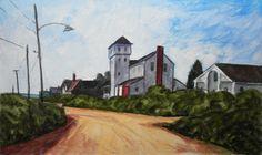biddeford pool maine | Dennis Bailey Paintings: Ocean Ave. Biddeford Pool Maine