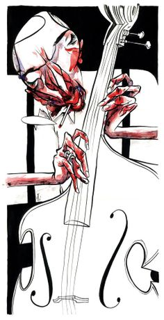 Bassist - sketchjazz by Leo Gibran, San Paulo, Brazil