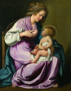 Artemisia Gentileschi, La Vergine allatta il Bambino 1616-18