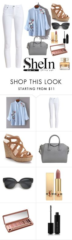 """""""SheIn"""" by millyweston ❤ liked on Polyvore featuring Barbour, Jennifer Lopez, Givenchy, Yves Saint Laurent, Urban Decay and Marc Jacobs"""