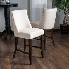 Christopher Knight Home Harman Fabric Counter Stool (Set of 2) - Overstock™ Shopping - Great Deals on Christopher Knight Home Bar Stools