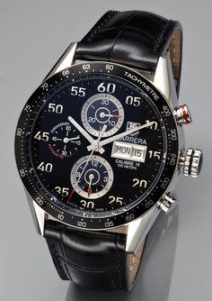 TAG HEUER Men's Carrera Chrono Leather Watch