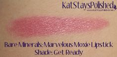 Ipsy Glam Bag: March 2014 - Bare Minerals Marvelous Moxie Lipstick - Get Ready | Kat Stays Polished #ipsy #glambag