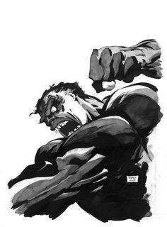 Tim Sale 8 Comic Book Artists, Comic Book Characters, Comic Artist, Comic Books Art, Marvel Comics Art, Marvel Comic Universe, Hulk Marvel, Gray Hulk, Cartoon Art Museum