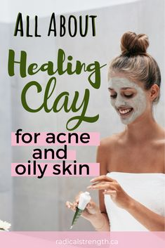 All about healing clay for acne and oily skin with a DIY face mask recipe. Learn about white clay, kaolin, green french clay, and all of the essential oils you can use to combat acne prone skin. #acne #skincare #greenskin #cleanskincare #veganskincare #clay #oilyskin #facemask #skincare #diybeauty