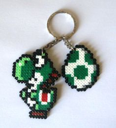 Items similar to SUPER MARIO BROS sprites, keyrings, broochs, magnets, Big spites. on Etsy Hama Beads Mario, Diy Perler Beads, Pearler Beads, Fuse Beads, Perler Bead Templates, Pearler Bead Patterns, Perler Patterns, Mario Yoshi, Mario Bros
