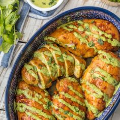Peruvian Chicken w/Green Sauce-a vibrant example of Peruvian cuisine-a flavor-packed fusion born of many cultures. Amazingly spiced & gorgeous. Perfection!