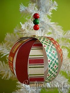 paper christmas ornament...