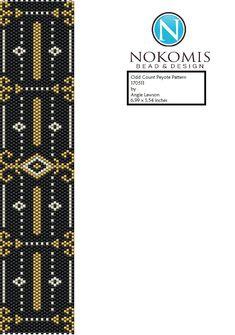 Odd Count Peyote Stitch Bracelet Pattern Digital Download - 170511 by NokomisBeadAndDesign on Etsy