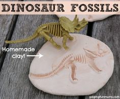 Dinosaur Fossils - with homemade clay!