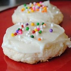 Soft and thick sugar cookies - even better than the storebought Lofthouse cookies.
