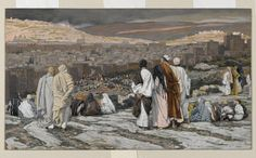 Disciples having left their hiding place, watch from afar in agony Date:between 1886 and 1894 Artist:Tissot, James Jacques Joseph, 1836-1902