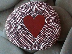 Painted Beach Stone Art - by Christine Salva #Stone Art #Art