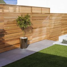 Cequence Slatted Cedar Fence Panel - Bevel Edged - Cequence Slatted Fence Panel – Bevel Edged – Contemporary Fencing Best Picture For pool fence - Contemporary Fencing, Contemporary Garden Design, Contemporary Architecture, Residential Architecture, Modern Contemporary, Back Garden Design, Patio Design, Backyard Fences, Backyard Landscaping