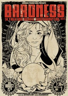 Savannah, Georgia's Baroness are one of my favorite bands. In 2012, I was lucky enough to get the opportunity to design a poster for them.   Unfortunately, on the way to this gig the band was involved in a severe road accident, there were a few broken bones & this show & the remained of the tour was cancelled. Thankfully no-one was seriously injured & Baroness are back on the road.  They're recent double album 'Yellow & Green' is  a fantastic listen & I highly recommend you go check them…
