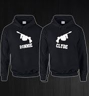 Bonnie and Clyde Gun Design Couples BLACK Hoodies Small - 5XL Custom Add Names On Backs His and Hers Coustume by StraightWholesale on Etsy