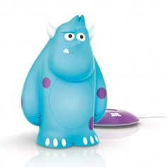Philips Disney Monsters Inc SoftPal Sully LED Night Light Table Lamp from Litecraft