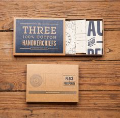 *Inspiration: Handkerchief Set | Izola-love the packaging.