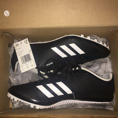 new style f8492 a1413 adidas Shoes   Adidas Track And Field Spikes.   Color  Black White