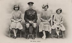 Wartime: King George VI of Great Britain and his family