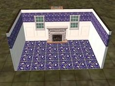 Mod The Sims - Blue Victorian Tile Continued