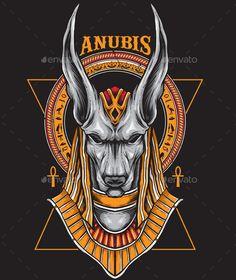 Buy Anubis by on GraphicRiver. Anubis,, based on vector design. Egyptian Mythology, Egyptian Symbols, Ancient Egyptian Art, Egyptian Artwork, Ancient Aliens, Ancient Greece, Foto Fantasy, Dark Fantasy Art, Dark Art