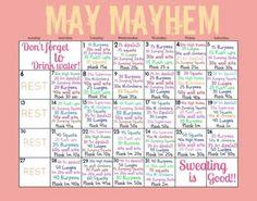 MAY 2013: may fitness challenge | Tumblr