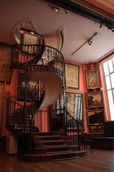 Musée_national_Gustave_Moreau1 , Paris, France by ois7020 on flickr I Love circular staircases