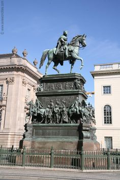 Berlin. The statue of Frederick the Great was completed in 1851, 20 years after sculptor Christian Daniel Rausch started with the design of this monument. It is decorated with sculptures of generals and contemporary leading figures. Read full article...