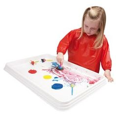 Painting and craft activities without the mess. Perfect for finger painting, collage activities, jigsaws and more. Made of tough plastic. Measures 4 H x 65 W x D. Fall Preschool Activities, Senses Activities, Color Activities, Infant Activities, Preschool Crafts, Learning Activities, Preschool Shapes, Steam Activities, Play Based Learning