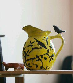Ceramic jar | Купить Кувшин керамический 2 л - фишка, бутыль, кувшин, Керамика, посуда, этника, гжель