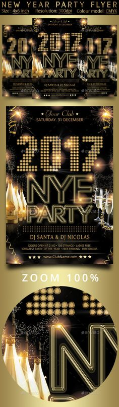 New Year Party   Party Flyer Font Logo And Flyer Template