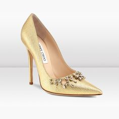 Jimmy Choo | Flame | Lame Fabric With Crystals Pointy Toe Pumps | JIMMYCHOO.COM