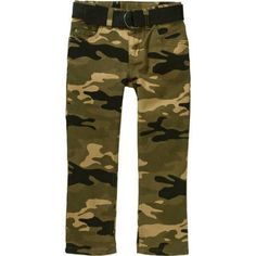 Faded Glory Boys' Belted Twill Chino Pants, Size: 12, Green